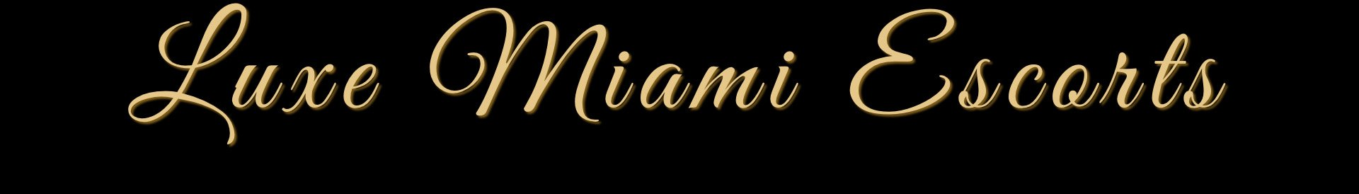 Luxe Miami Escorts - Miami escort header logo
